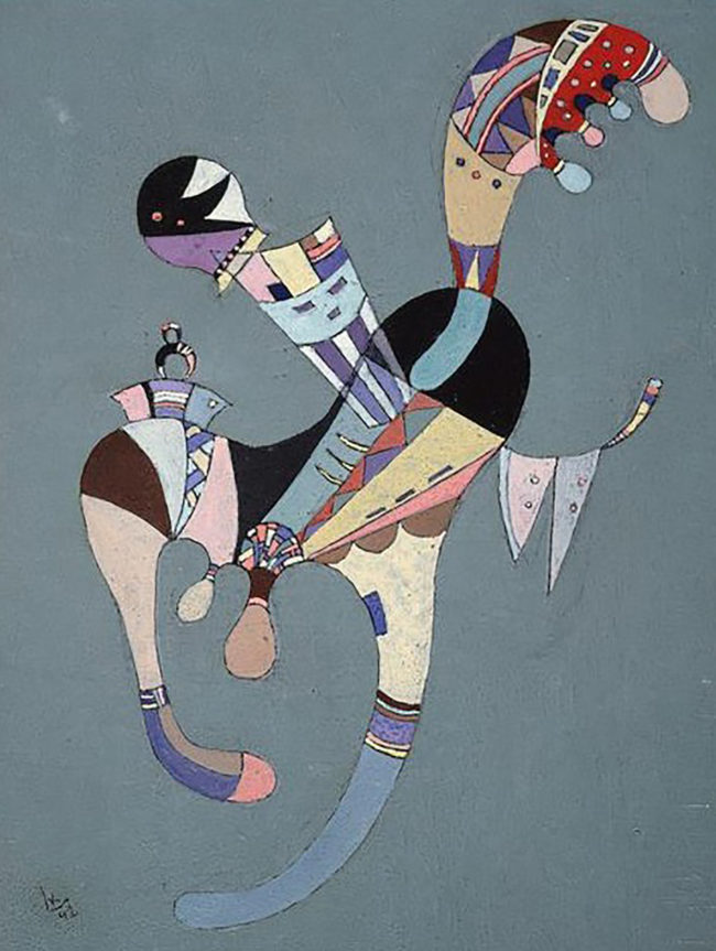 Kandinsky's A Floating Figure, 1942